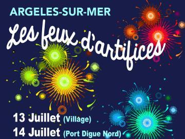 Affiche des feux d'artifice d'Argelès-sur-Mer